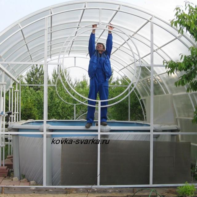 Каркас над бассейном своими руками фото 20