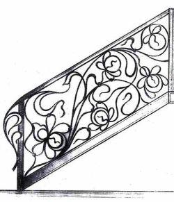 Кованые изделия: лестницы.