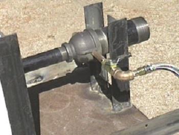 Газовая горелка для кузнечного горна.