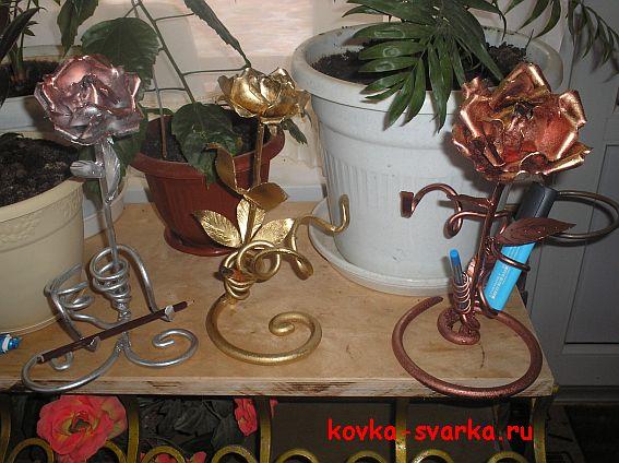 кованые розы ковка-сварка.ру