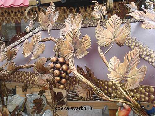 Кованая виноградная лоза