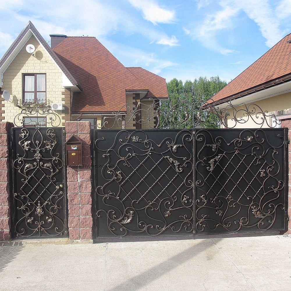 фото ворот, ковка