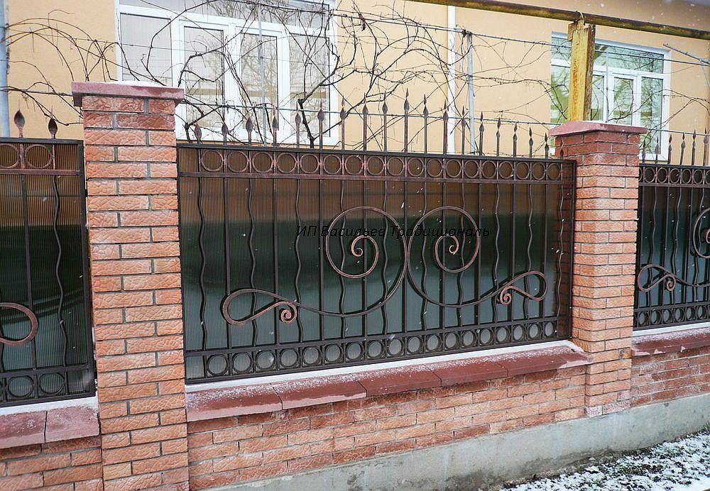 Кованый забор от ИП Васильев, Уфа