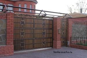Ворота с ковкой из Волгограда