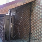 Прозрачная дверь кованая