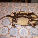 кованая скульптура «Ящерица»