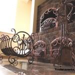 Фото кованых каминных принадлежностей