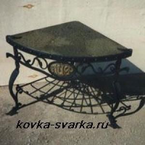 Фото кованого столика