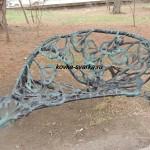 Фото кованой скамейки