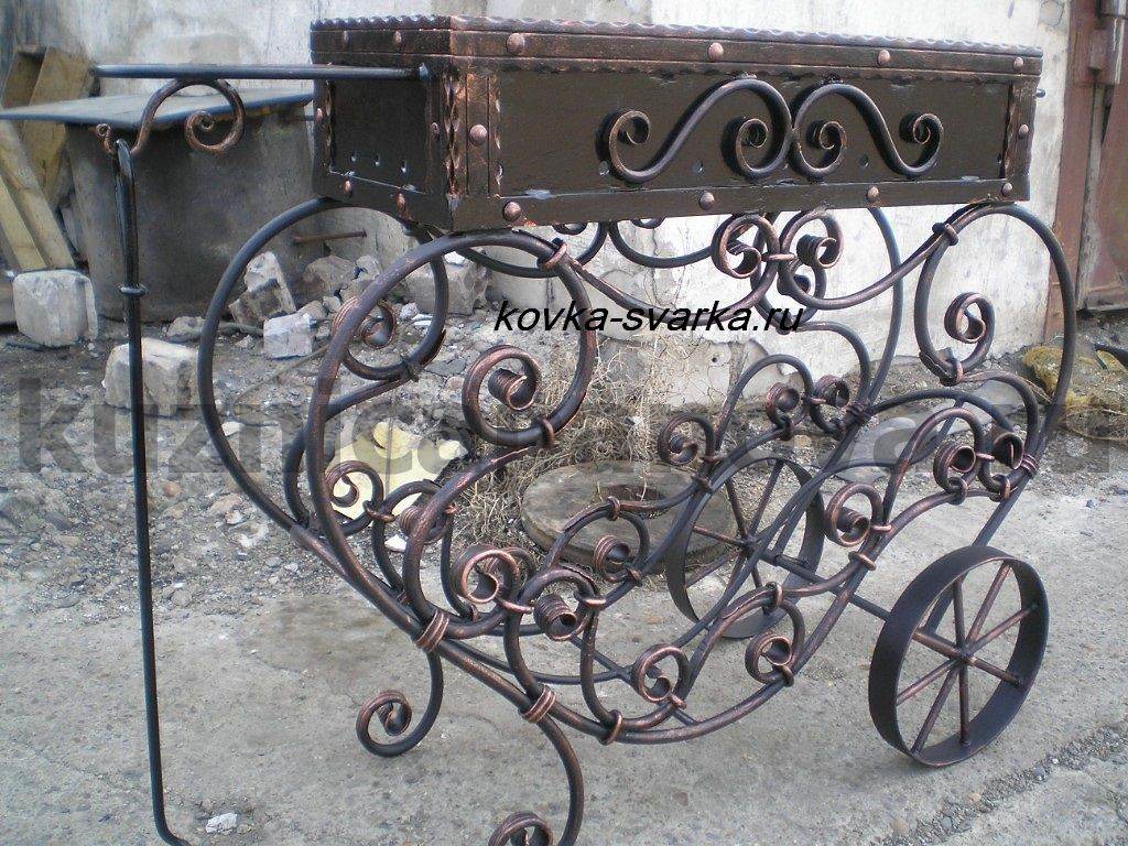 фото художественная ковка мангалы
