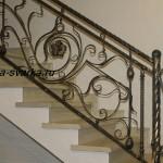 Фото кованых лестничных перил