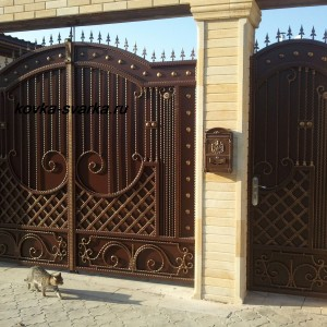 Фото кованых ворот и калитки