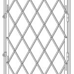 Раздвижная решетка для окна с одним полотном.