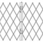 Раздвижные решетки для окна с двумя полотнами.
