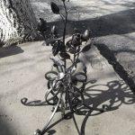 кованые розы, композиция