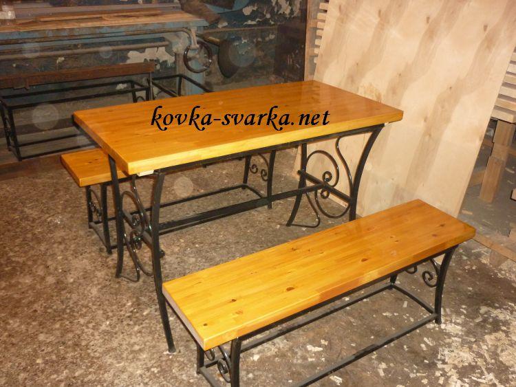 Фото кованого стола и скамеек