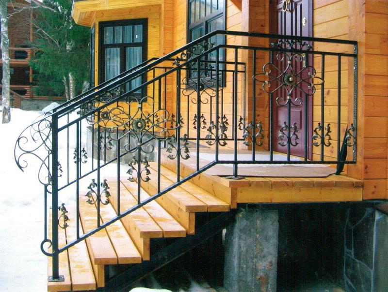 Кованые перила для крыльца - Всё о лестницах