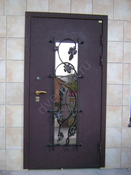 Фото кованных дверей входных железных