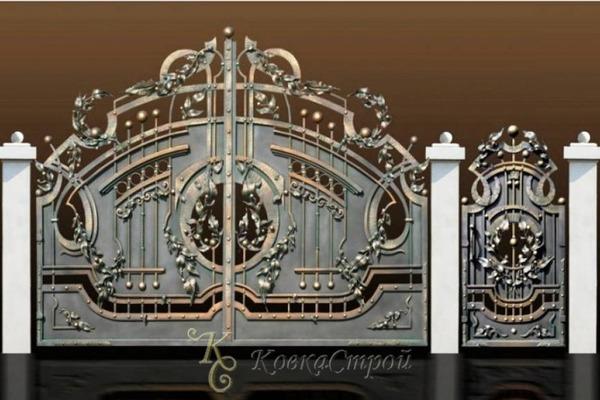 Художественная ковка ворота и калитки фото