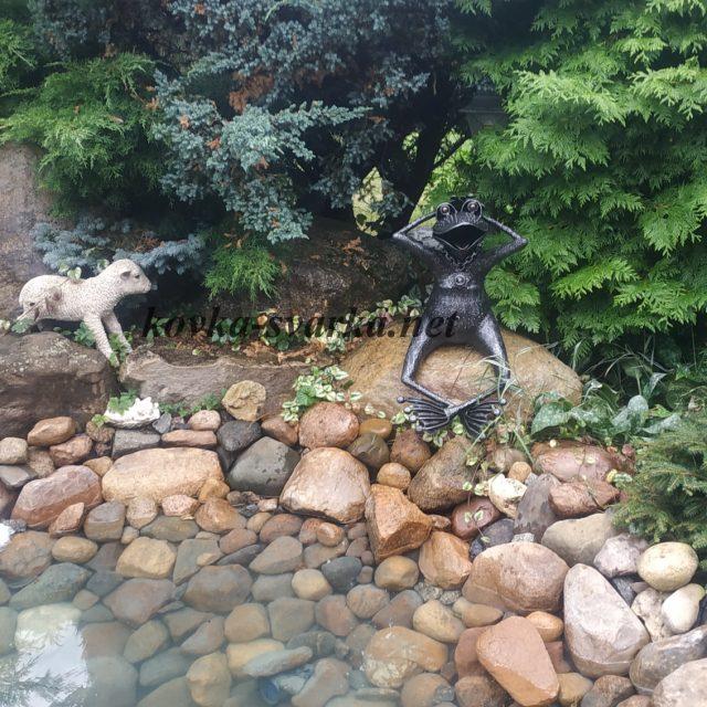 Кованая скульптура для сада Лягушка