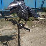Кованая скульптура Ворона