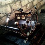 Дровницы кованые (фото)