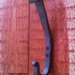 Ковка крючка для одежды (настенный двойной) своими руками