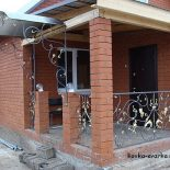 Фото кованых работ (перила, козырьки, ограждения и прочее) от кузнецов Уфы