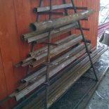 Стеллаж-хранилище для металлопроката — прутка, труб, уголка и тому подобного